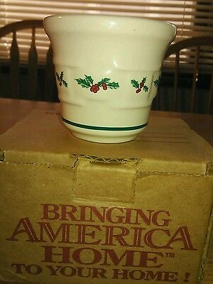Longaberger 1997 Votive Cup Christmas Woven Traditions #34932