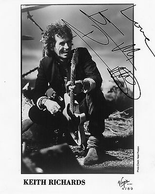 Authentic Keith Richards Signed Official 10X8 Promo Stones V Rare Real Signature