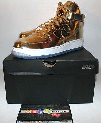 newest 397db 5cfe2 Nike Air Force 1 Mid Liquid Gold White Olympics Sneakers 2016 Men s Size 12  New