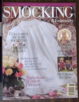 Smocking & Embroidery  Issue 36 1996 Vintage  No Pattern or kit offer