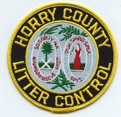 HORRY COUNTY SOUTH CAROLINA SC LITTER CONTROL sheriff police PATCH