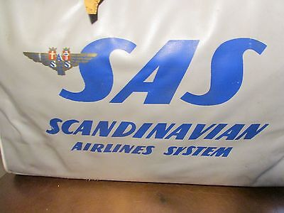 Vintage Scandinavian Airline System Travel Bag, Circa 1960, Carry-On Luggage