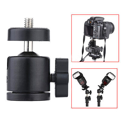 "360° Swivel Mini Ball Head Bracket Holder Mount 1/4"" Screw for Camera Tripod New"
