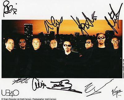 Authentic Fully Signed Ub40 Official 10 X 8 Promo Photo....real Signatures....