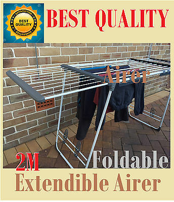 New Foldable Extendible Clothes Drying Rack Free-Standing Dryer Airer Laundry