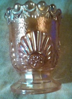 WESTMORELAND MARIGOLD CARNIVAL GLASS SHELL AND JEWEL SUGAR BOWL no lid