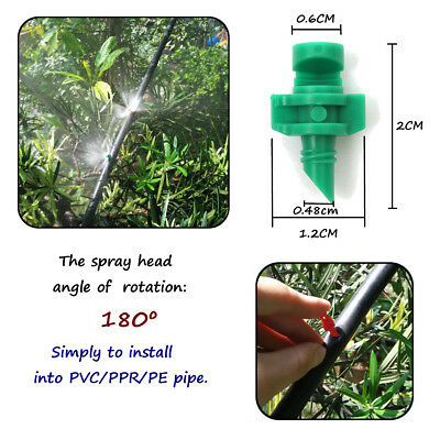 50/100Pcs Micro 180 Degree Garden Lawn Spray Nozzle Sprinkler Irrigation System