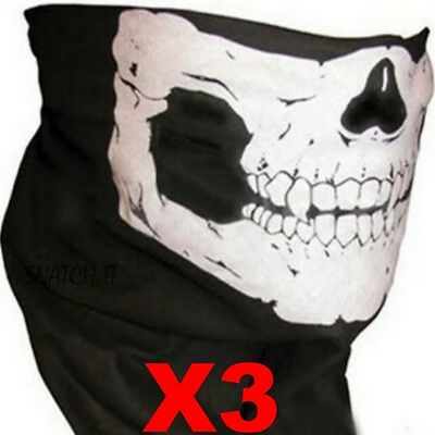 Bandana Face Buff Shield Mask Fishing Headwear Biker Neck Tube Scarf Skull Head