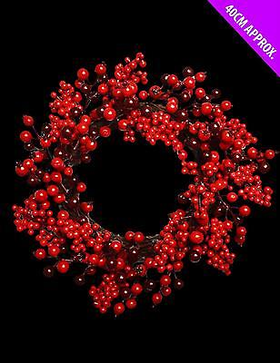 Red Berries Christmas Wreath Red Wreath Hanging Christmas Decoration