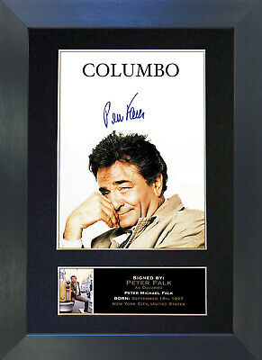 COLUMBO Peter Falk Signed Mounted Autograph Photo Prints A4 312