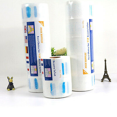 Ruffle Roll Paper Hair Cutting Salon Disposable Hairdressing Collar Accessory