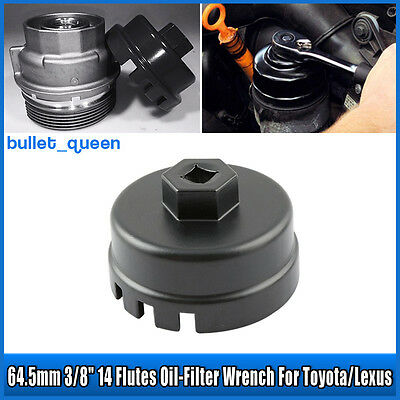 Oil Filter Cap Wrench Universal 64mm Socket Remover Tool Set For Toyota Lexus