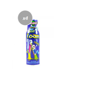 905034 6 x 90mL COSMIC SOUR FOAM CANDY - BLUE RASPBERRY FLAVOUR