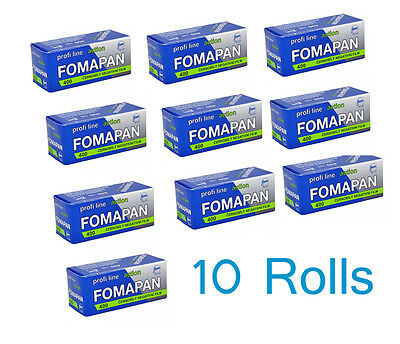 Fomapan 400 Action 120 Black & White Roll Film FP4001 - 10 Rolls