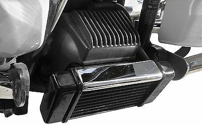 Jagg Oil Coolers 2380 Horizontal 10 Row Oil Cooler Low Chrome