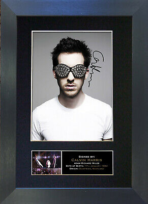 CALVIN HARRIS Signed Mounted Autograph Photo Prints A4 306