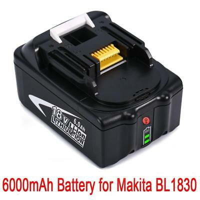 6.0AH 18V Battery For Makita BL1860 BL1845 BL1840 BL1830 BL1815 LXT Lithium Ion