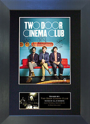 TWO DOOR CINEMA CLUB Signed Mounted Autograph Photo Prints A4 281