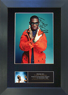 TINIE TEMPAH Signed Mounted Autograph Photo Prints A4 401