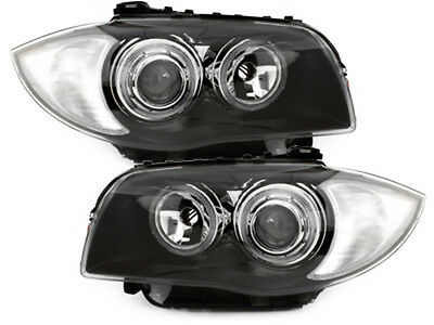 BMW 1er E87 Scheinwerfer 04-07 Lichtringe 2 Halo Rims Headlights Chrom