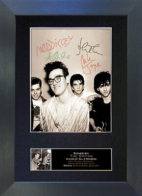 THE SMITHS Signed Mounted Autograph Photo Prints A4 115
