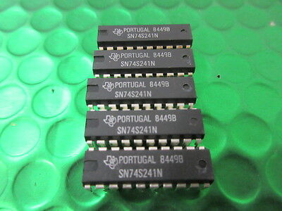Buffers /& Line Drivers Octal w//Tri-St Out DIP-20 **5 PER SALE** SN74S241N