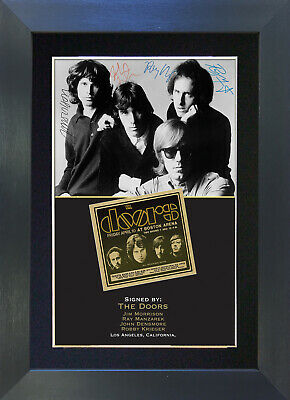 THE DOORS Signed Mounted Autograph Photo Prints A4 204