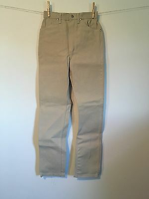 1960s WRANGLER Khaki Jeans NOS Sanforized Slim High waist Western fit Denim NOS