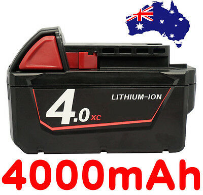 18V 4.0Ah Red Lithium Ion XC 4.0 Battery For Milwaukee M18 M18B4 48-11-1828
