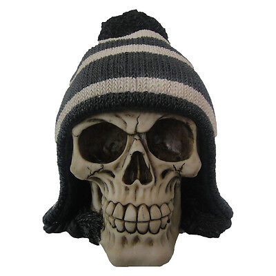 Bobble Hat Skull  | Collectable Skulls | Unusual Gift | Gothic Cool | Unique