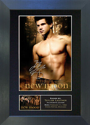 TAYLOR LAUTNER New Moon Signed Mounted Autograph Photo Prints A4 25