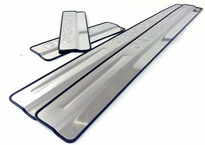 Chrome 4 Door Sill Covers Stainless Steel For Nissan Qashqai 2007-2013 New Boxed