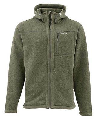 SIMMS RIVERSHED HOODY FULL ZIP  - LODEN - M & L- NEW - Free US Shipping