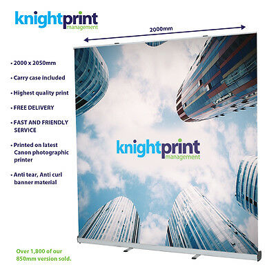 2000mm wide Roller Banner / Pop Up / Pull Up Exhibition Stand - Trade Show