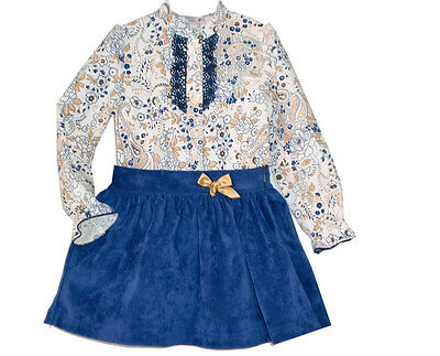 *SALE* Beautiful Girl's Blue Spanish 2 Piece Outfit/Romany/Nice Print/2-6 Years