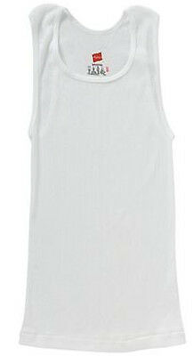 Hanes 3-Pack Ribbed Shirt Wife Beater Tank 100% Cotton UnderShirt Size 2/4-18/20