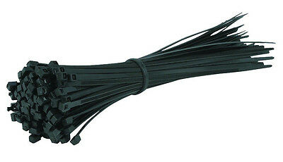 """1000 PC Pack 8"""" Inch Black Network 50 LBS Zip Nylon Cable Cord Wire Tie Strap UL"""