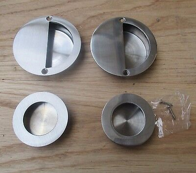 Stainless Steel Recessed Flush Inset Pull Sliding Door Wardrobe Handle