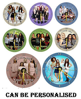 Little Mix Cd Clock can personalise free stand, gift box, Birthday, Music, Group