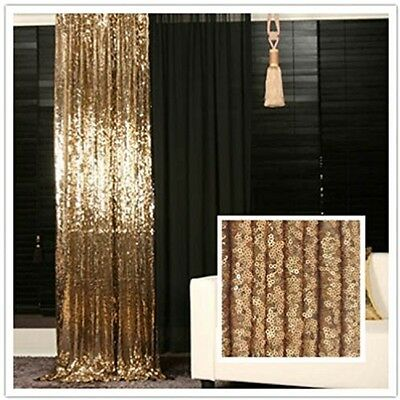 Gold Wedding Curtain backdrop 4 x 7 trlyc Sparkly Photo Booth Gold Sequin Fabric