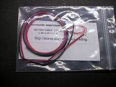 Model Car Battery Cables 1:24 1:25 scale Diorama