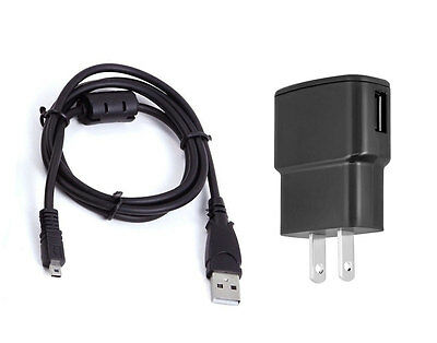 USB AC DC Power Adapter Camera Battery Charger + PC Cord for Nikon Coolpix S6100