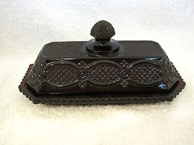 Cape Cod Ruby Red Glass By Avon Covered Butter Dish Excellent Shape SHP