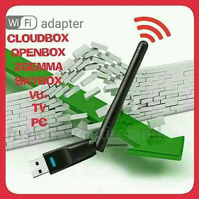 WIFI WIRELESS USB DONGLE ADAPTER ANTENNA LAN NETWORK CARD 150mbps TV BOX PC