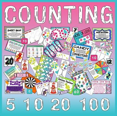 Cd Counting Games - Maths Number Teaching Resources Eyfs Ks1 Addition Numeracy