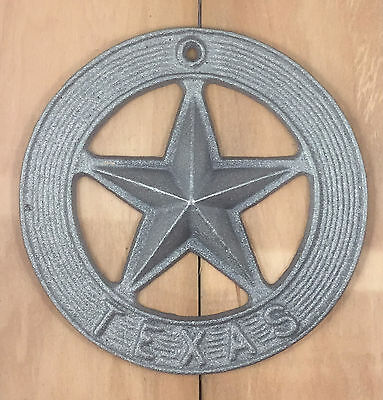 State of Texas Lone Star Cast Iron Wall Plaque Western Style Decor Decoration