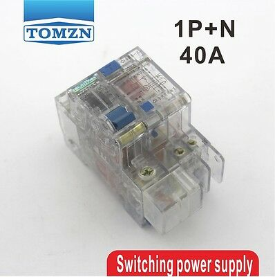 Transparent 1P+N 40A 230V~ 50HZ/60HZ Residual current Circuit breaker