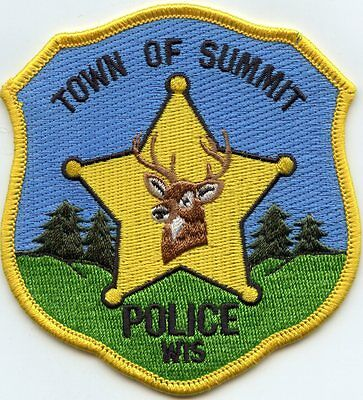 Summit Wisconsin Wi Police Patch