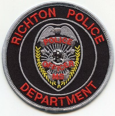 Richton Mississippi Ms Police Patch