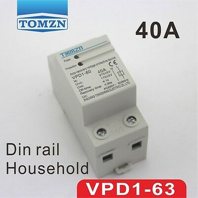 40A 230V Din rail automatic recovery reconnect over voltage